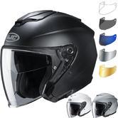 HJC I30 Plain Open Face Motorcycle Helmet & Visor