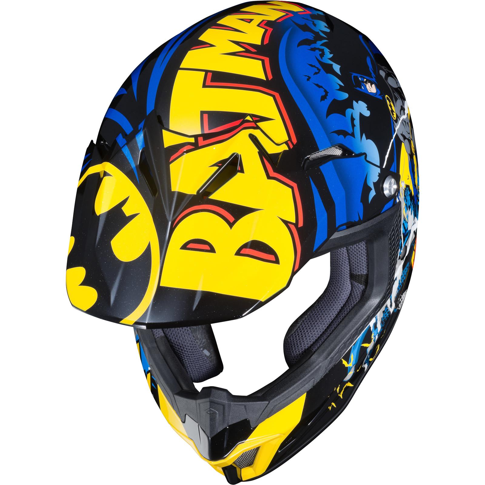 thumbnail 7 - HJC CL-XY II Batman Youth Motocross Helmet Kids MX Off-Road ATV DirtBike Helm