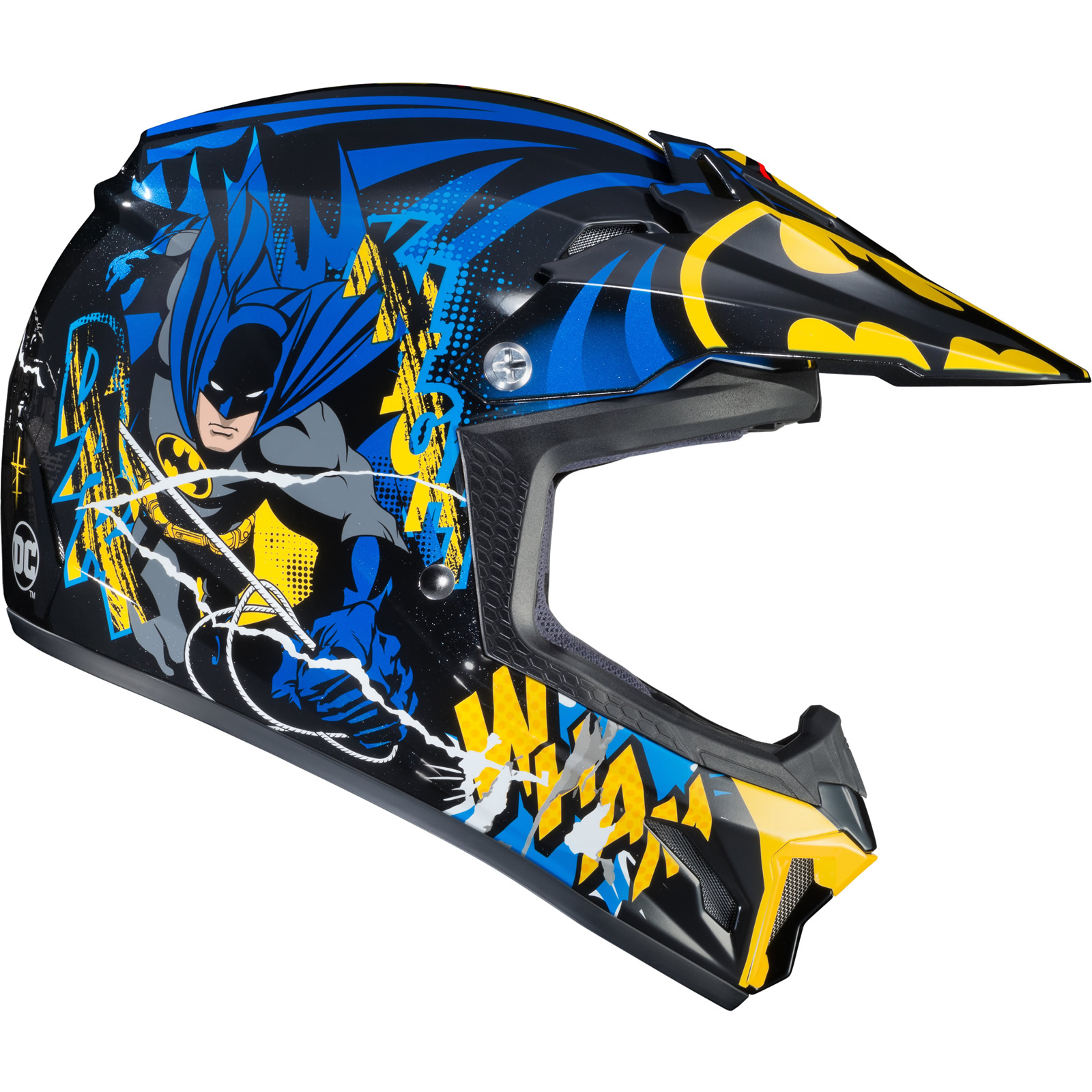 thumbnail 8 - HJC CL-XY II Batman Youth Motocross Helmet Kids MX Off-Road ATV DirtBike Helm