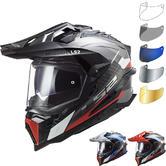 LS2 MX701 Explorer Carbon Frontier Dual Sport Motorcycle Helmet & Visor