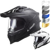 LS2 MX701 Explorer Solid Dual Sport Motorcycle Helmet & Visor