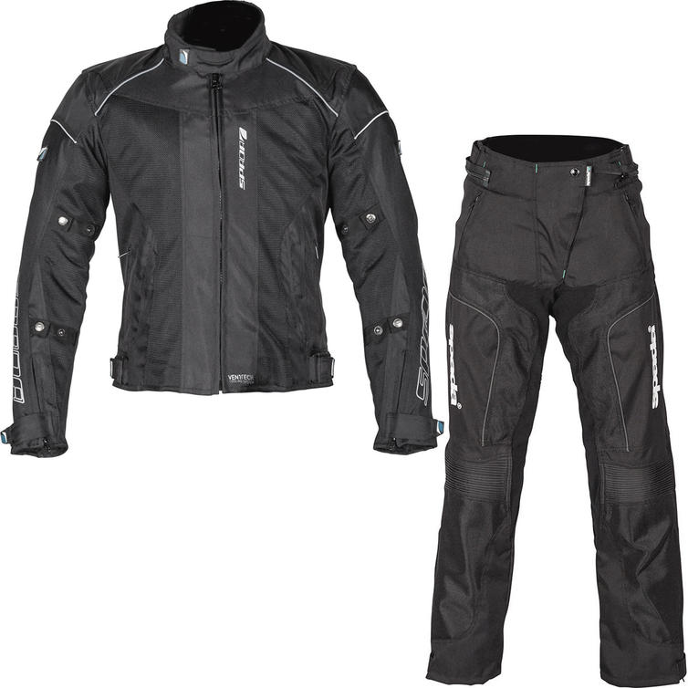 Spada Air Pro Seasons CE Motorcycle Jacket & Trousers Black Kit