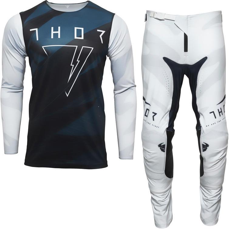 Thor Prime Pro Cast Motocross Jersey & Pants White Midnight Kit