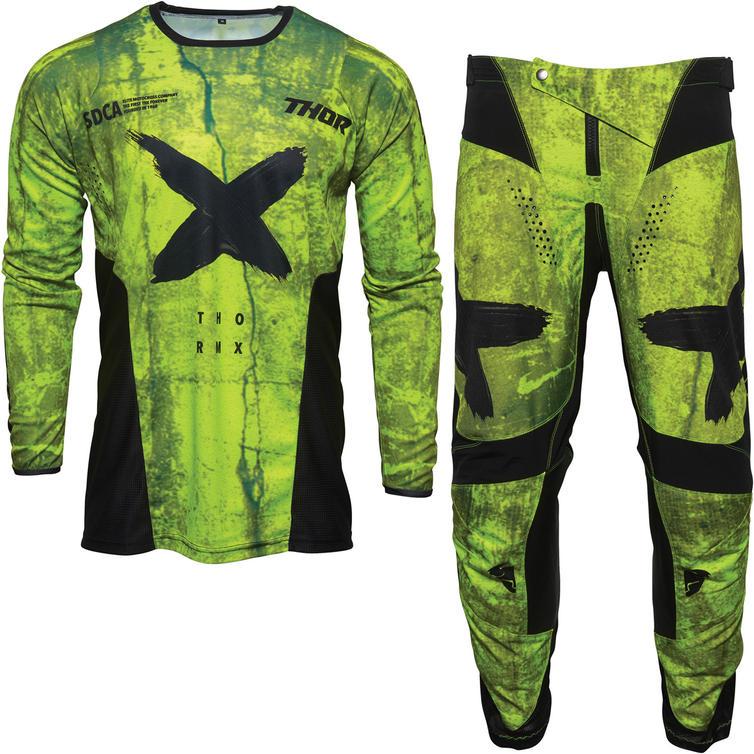 Thor Pulse HZRD Motocross Jersey & Pants Acid Black Kit
