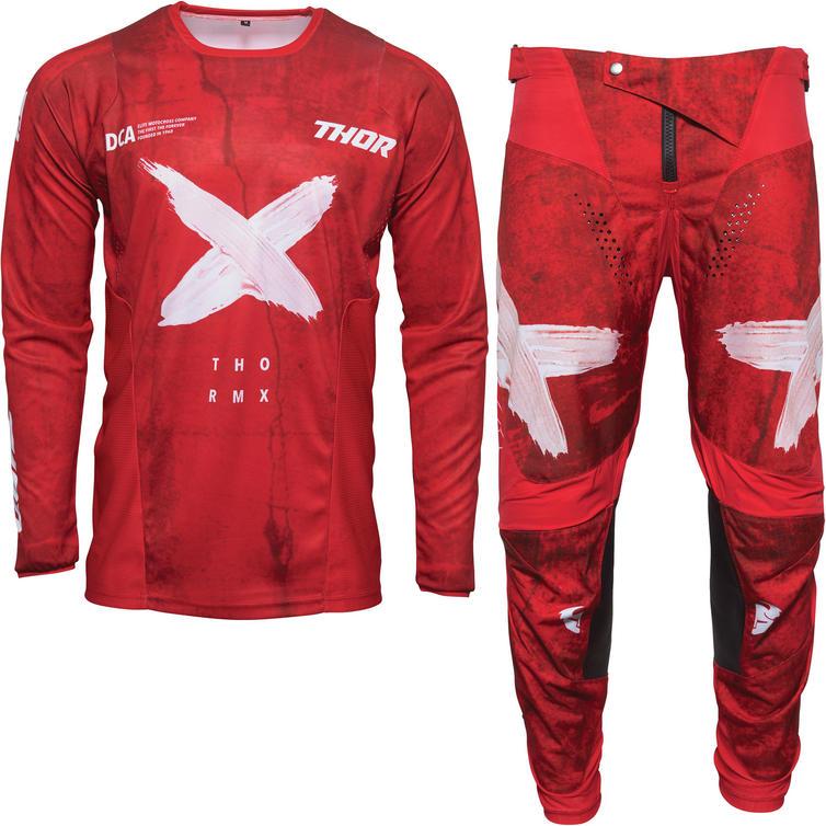 Thor Pulse HZRD Motocross Jersey & Pants Red White Kit