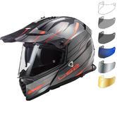 LS2 MX436 Pioneer Evo Knight Dual Sport Motorcycle Helmet & Visor