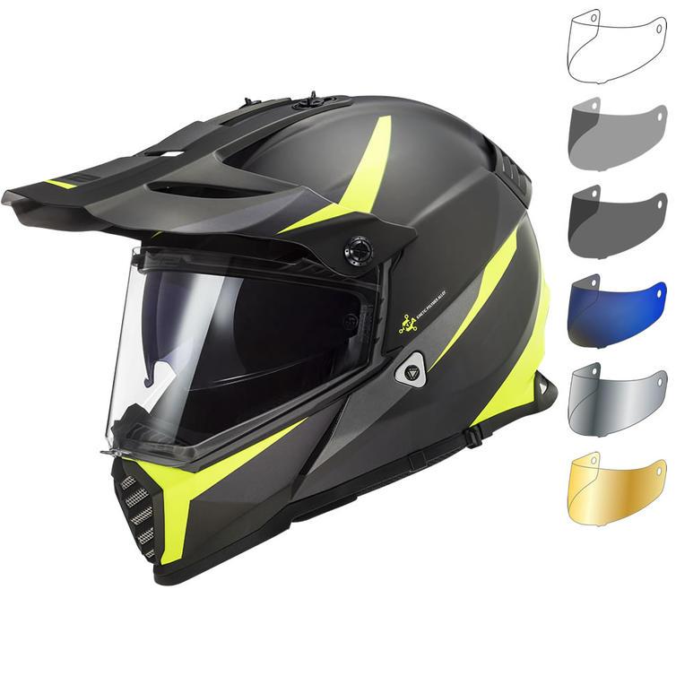 LS2 MX436 Pioneer Evo Router Dual Sport Motorcycle Helmet & Visor