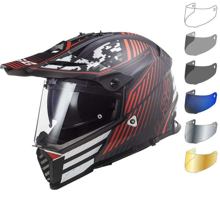 LS2 MX436 Pioneer Evo Saturn Dual Sport Motorcycle Helmet & Visor