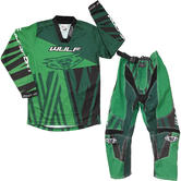 Wulf Ventuno Cub Kids Motocross Jersey & Pants Fern Green Kit