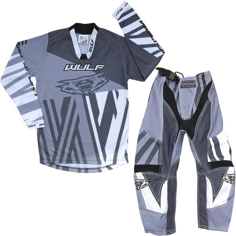 Wulf Ventuno Cub Kids Motocross Jersey & Pants Grey Slate Kit