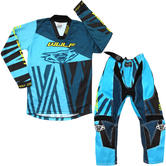 Wulf Ventuno Cub Kids Motocross Jersey & Pants Teal Midnight Kit