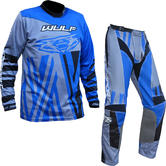 Wulf Ventuno Adult Motocross Jersey & Pants Blue Alloy Kit