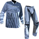 Wulf Ventuno Adult Motocross Jersey & Pants Grey Slate Kit