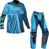 Wulf Ventuno Adult Motocross Jersey & Pants Teal Midnight Kit