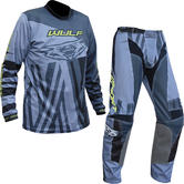 Wulf Ventuno Adult Motocross Jersey & Pants Grey Yellow Kit