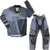 Wulf Ventuno Cub Kids Motocross Jersey & Pants Grey Yellow Kit
