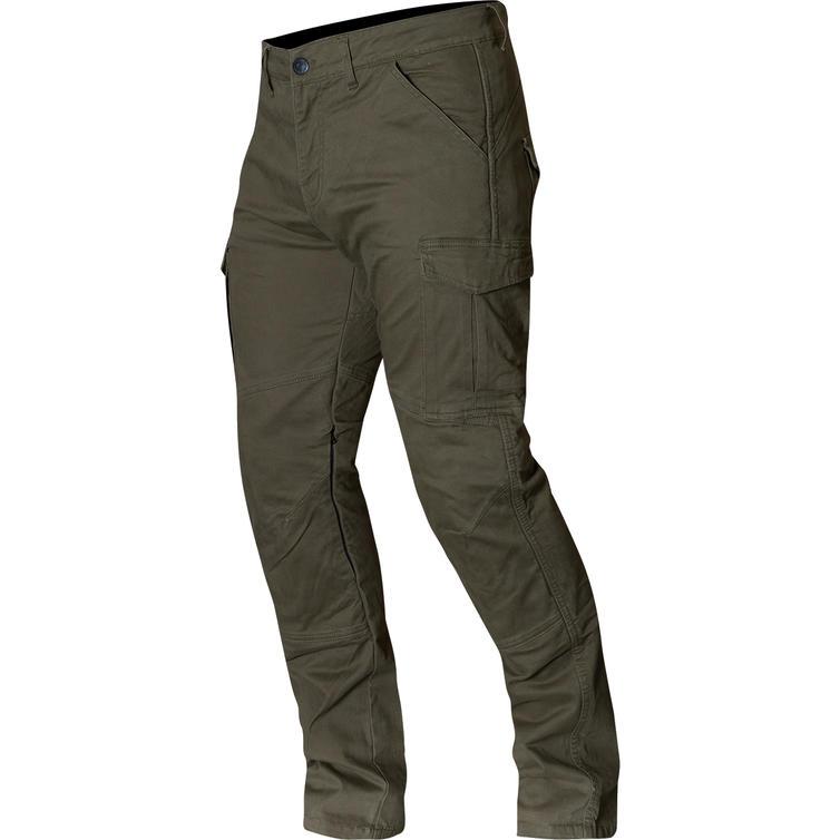 Merlin Harlow Green Cargo Motorcycle Jeans