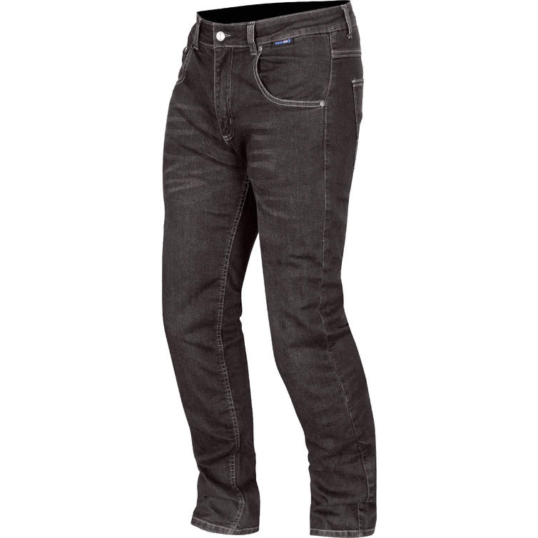 Route One Duke Water Resistant Black Motorcycle Jeans