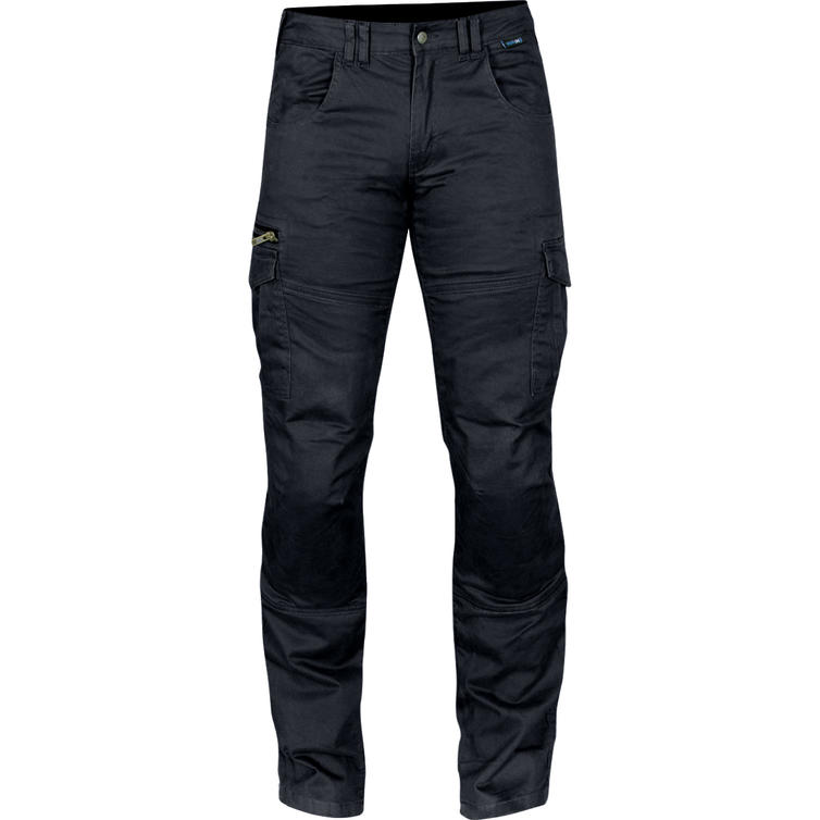 Route One Remy Black Cargo Motorcycle Jeans