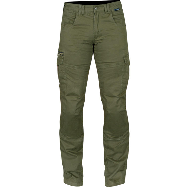 Route One Remy Olive Cargo Motorcycle Jeans