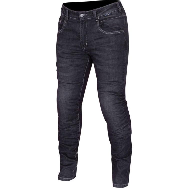 Route One Peyton Water Resistant Ladies Black Motorcycle Jeans