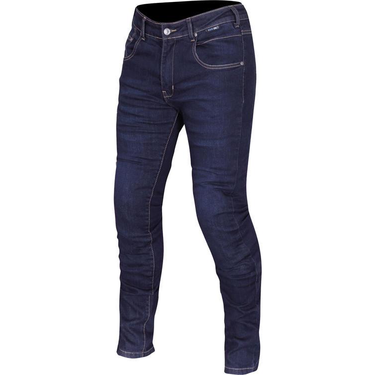 Route One Peyton Water Resistant Ladies Navy Motorcycle Jeans