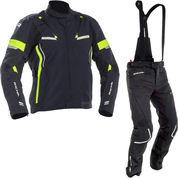 Richa Arc Gore-Tex Motorcycle Jacket & Trousers Black Fluo Kit