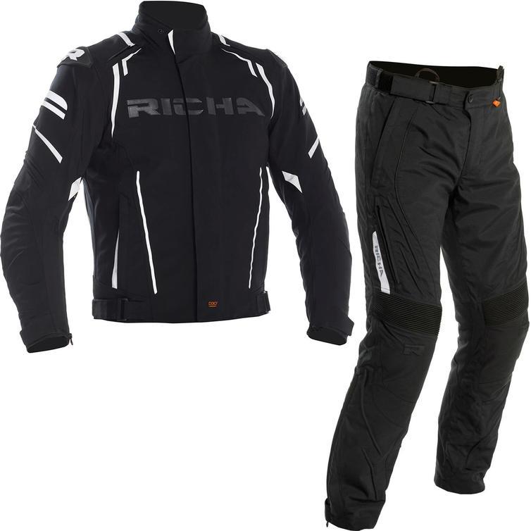 Richa Impact Motorcycle Jacket & Trousers Black Kit