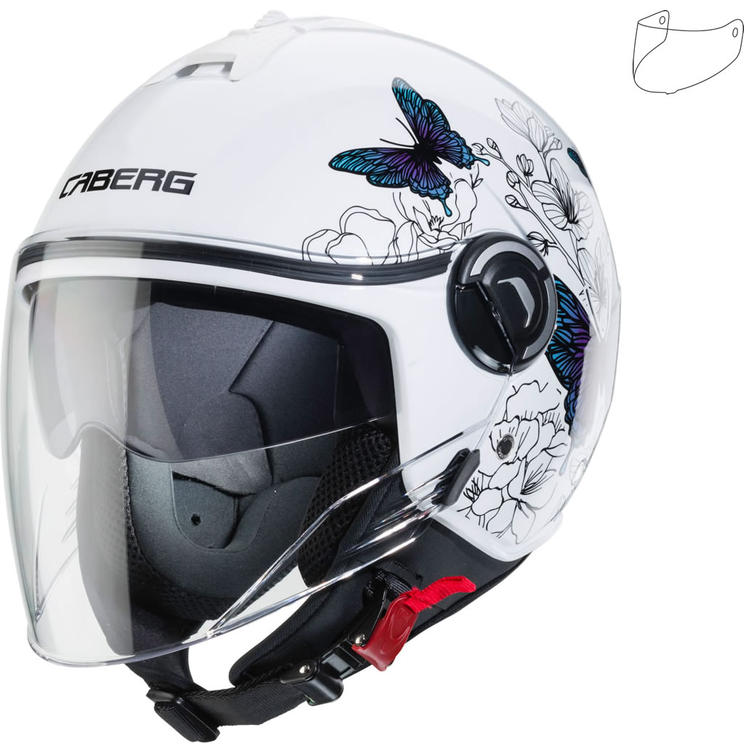 Caberg Riviera V4 Muse Ladies Open Face Motorcycle Helmet