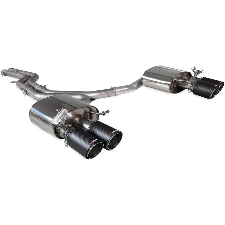 Scorpion Car Exhaust Hald System (Non-Resonated) Carbon Ascari - Audi S4 B9 Quattro 3.0T V6 Avant Saloon/Sedan (Non GPF Model) 17-19