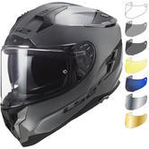 LS2 FF327 Challenger Solid Motorcycle Helmet Nardo Grey & Visor