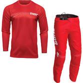 Thor Sector Minimal 2022 Motocross Jersey & Pants Red Kit