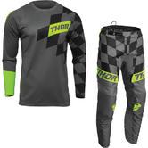 Thor Sector Birdrock 2022 Motocross Jersey & Pants Grey Acid Kit