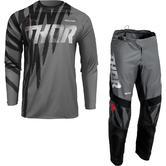 Thor Sector Tear 2022 Motocross Jersey & Pants Grey Black Kit