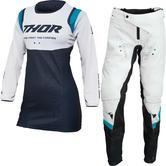 Thor Pulse Rev 2022 Ladies Motocross Jersey & Pants Midnight White Kit