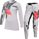 Thor Sector Urth 2022 Ladies Motocross Jersey & Pants Light Grey Kit