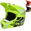 Fox Racing 2022 Youth V1 Skew Motocross Helmet Thumbnail 1