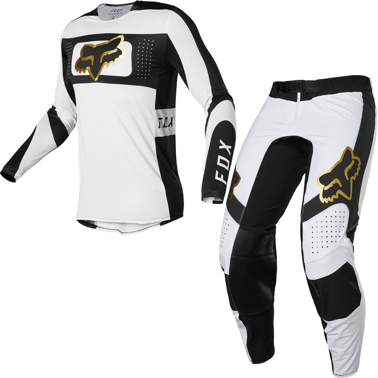 Fox Racing 2022 Flexair Mirer Motocross Jersey & Pants White Black Kit