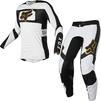 Fox Racing 2022 Flexair Mirer Motocross Jersey & Pants White Black Kit Thumbnail 2