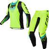 Fox Racing 2022 360 Dier Motocross Jersey & Pants Fluo Yellow Kit Thumbnail 1