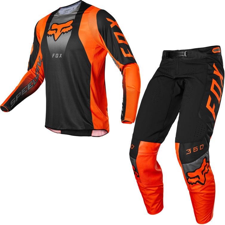 Fox Racing 2022 360 Dier Motocross Jersey & Pants Fluo Orange Kit