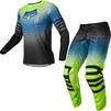 Fox Racing 2022 Airline Reepz Motocross Jersey & Pants Black Yellow Kit Thumbnail 1