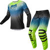 Fox Racing 2022 Airline Reepz Motocross Jersey & Pants Black Yellow Kit Thumbnail 2