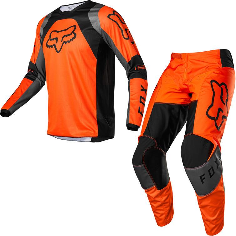 Fox Racing 2022 180 Lux Motocross Jersey & Pants Fluo Orange Kit