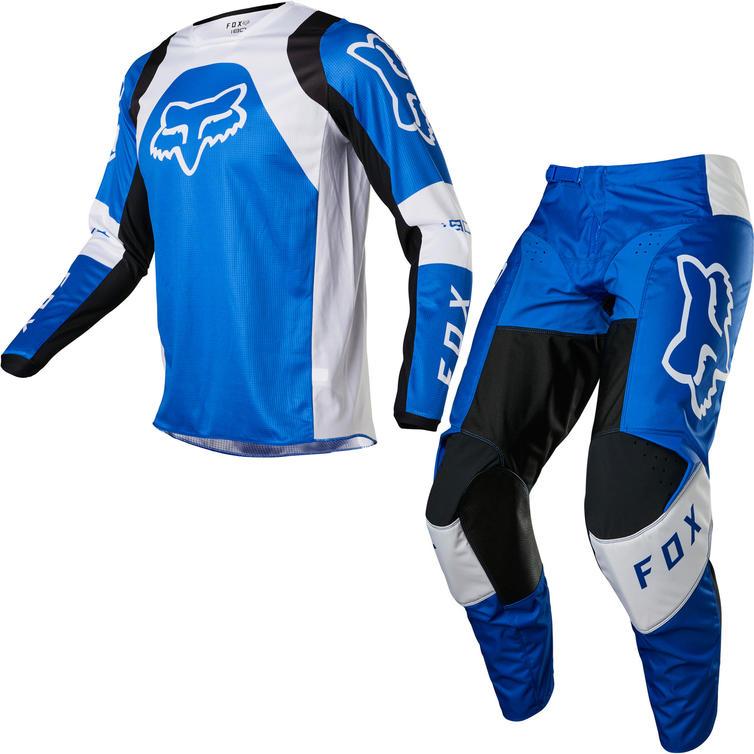 Fox Racing 2022 180 Lux Motocross Jersey & Pants Blue Kit