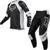 Fox Racing 2022 180 Lux Motocross Jersey & Pants Black White Kit Thumbnail 2