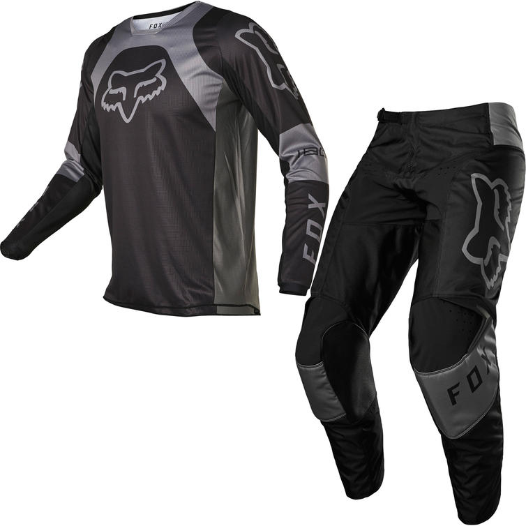 Fox Racing 2022 180 Lux Motocross Jersey & Pants Black Black Kit