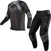 Fox Racing 2022 180 Lux Motocross Jersey & Pants Black Black Kit Thumbnail 2