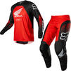 Fox Racing 2022 180 Honda Motocross Jersey & Pants Black Red Kit Thumbnail 1