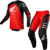 Fox Racing 2022 180 Honda Motocross Jersey & Pants Black Red Kit Thumbnail 2